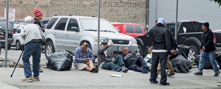 Waiting for Lunchtime - Jones Street - San Francisco Tenderloin - Tony Wasserman