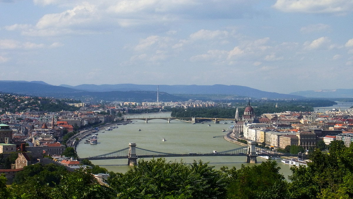 The Danube from Gellert Hill