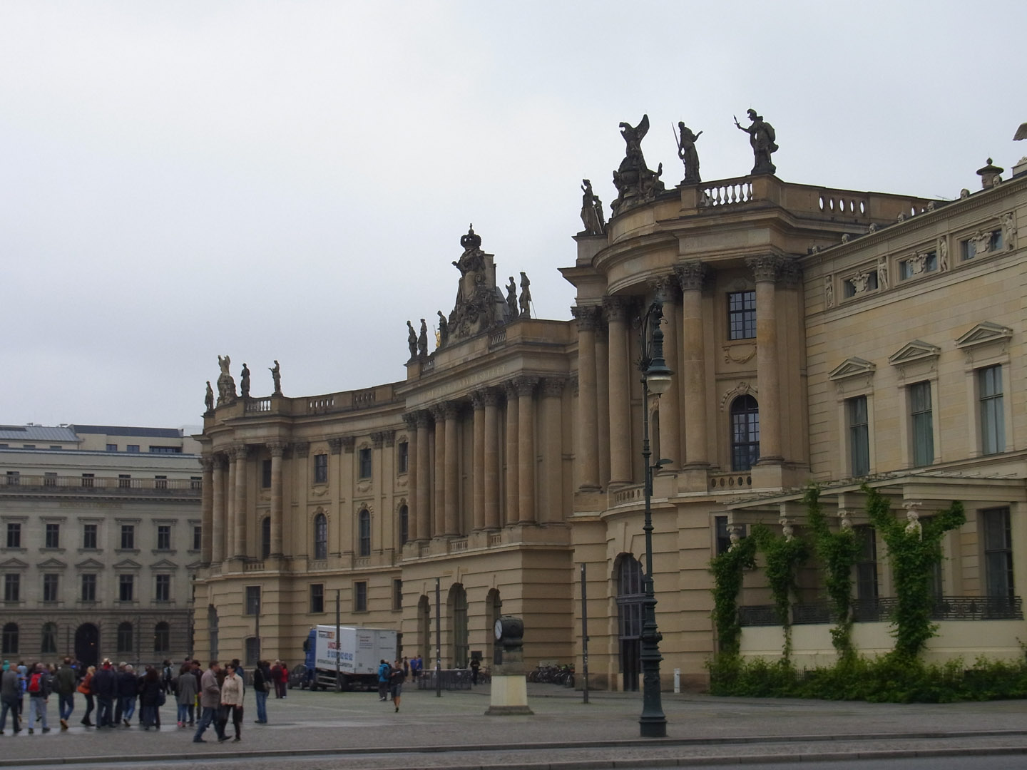 Humboldt University bordering Babelplatz - site of the one of the infamous Nazi book burnings