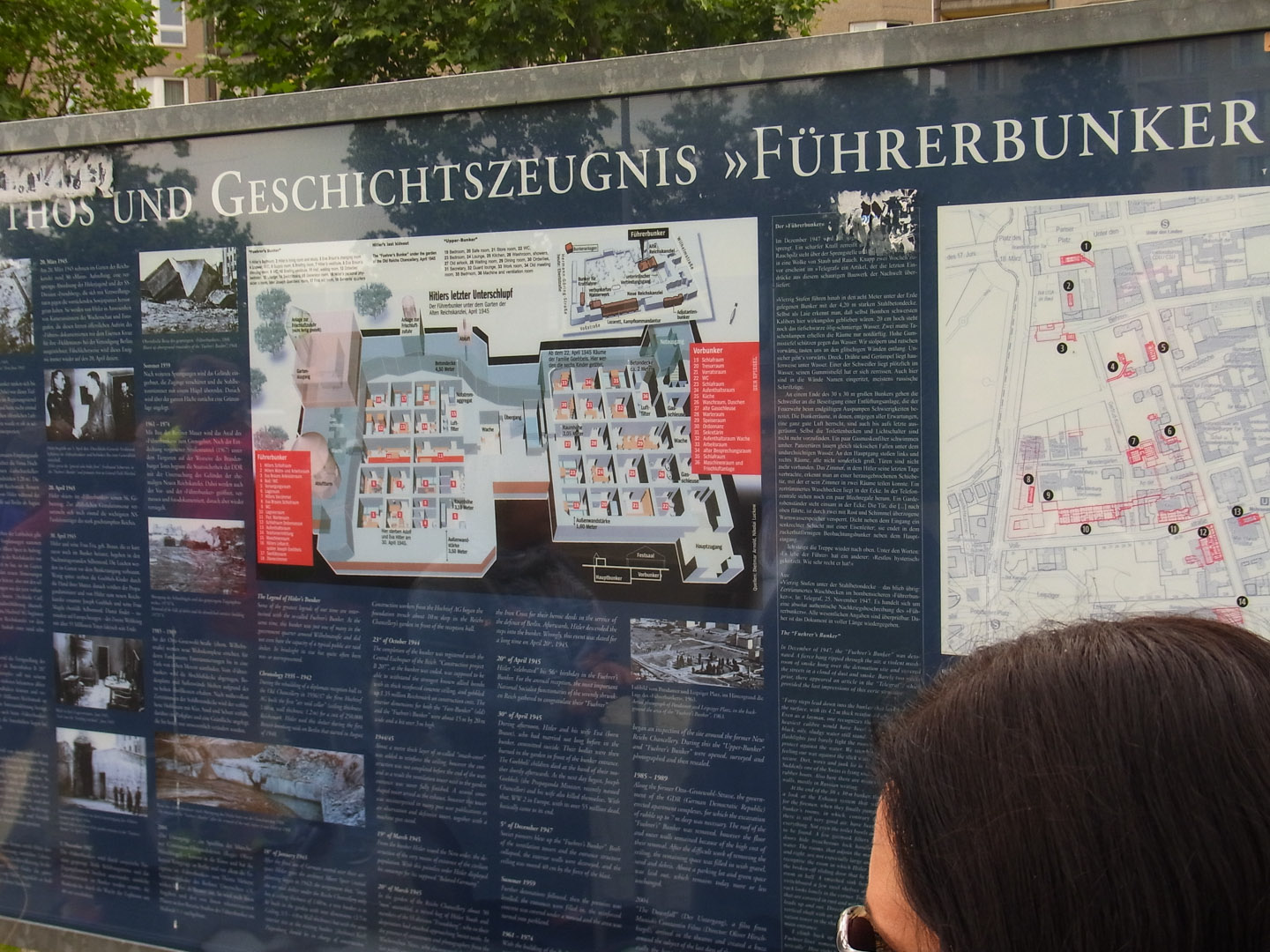 Fuhrerbunker Site - so well build multiple attempts to destroy the bunker failed so it was filled in and is now parked on
