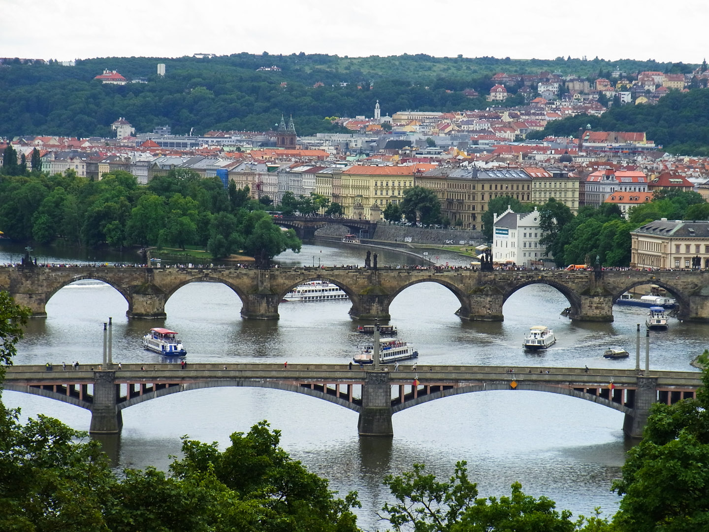 Vltava River from From Letná Hill