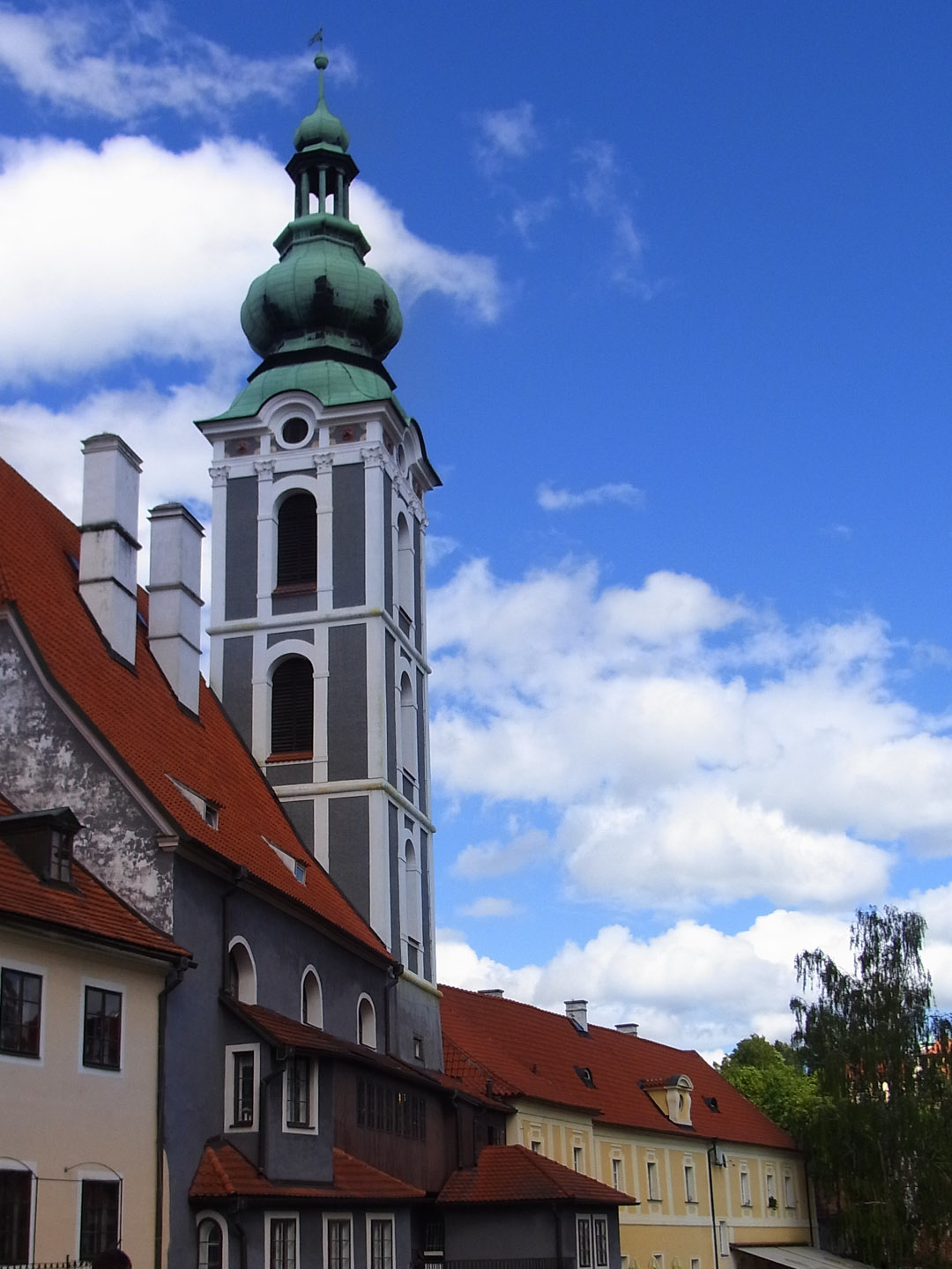 Tower of St. Jošt Church in Český Krumlov