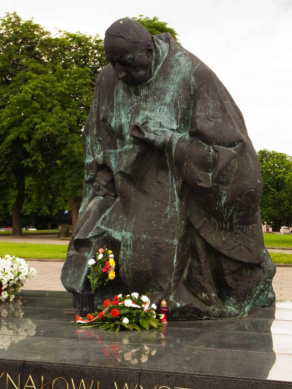Kardynal Stefan Wyszynski statue in Czestochowa, Jasna Gora