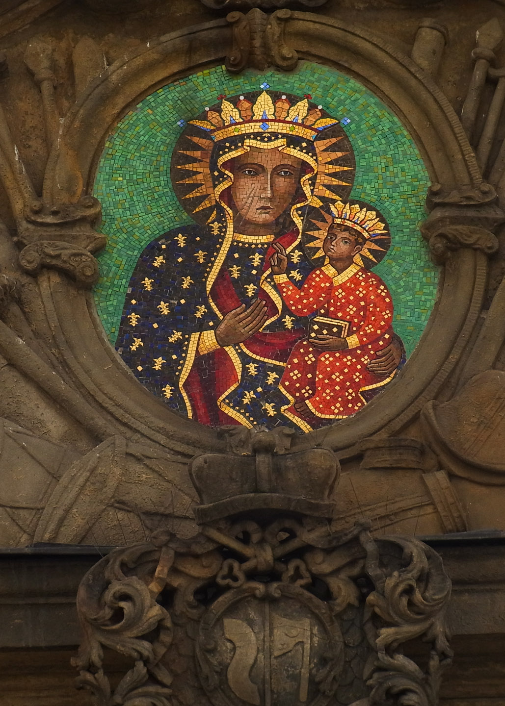 Mosaic of the Black Madonna, Poland's holiest icon