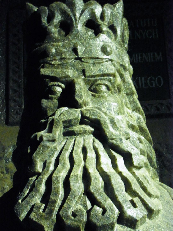 Statue of King Kazmierz, Wieliczka Salt Mine