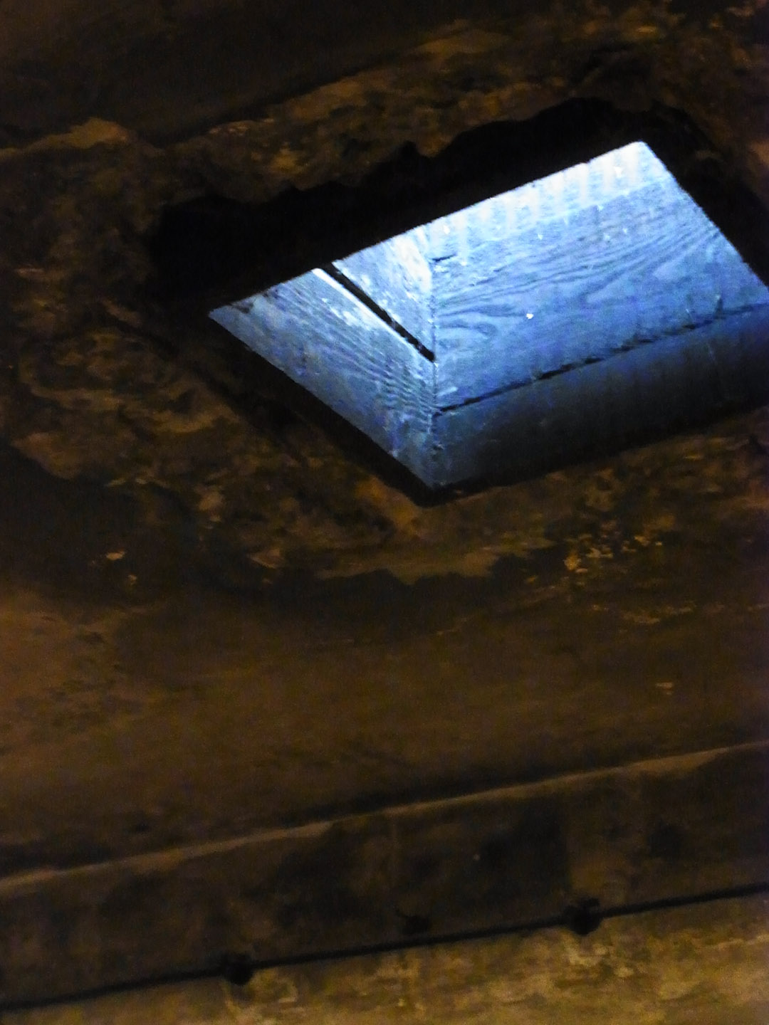 The roof through which the Zyklon B was dropped