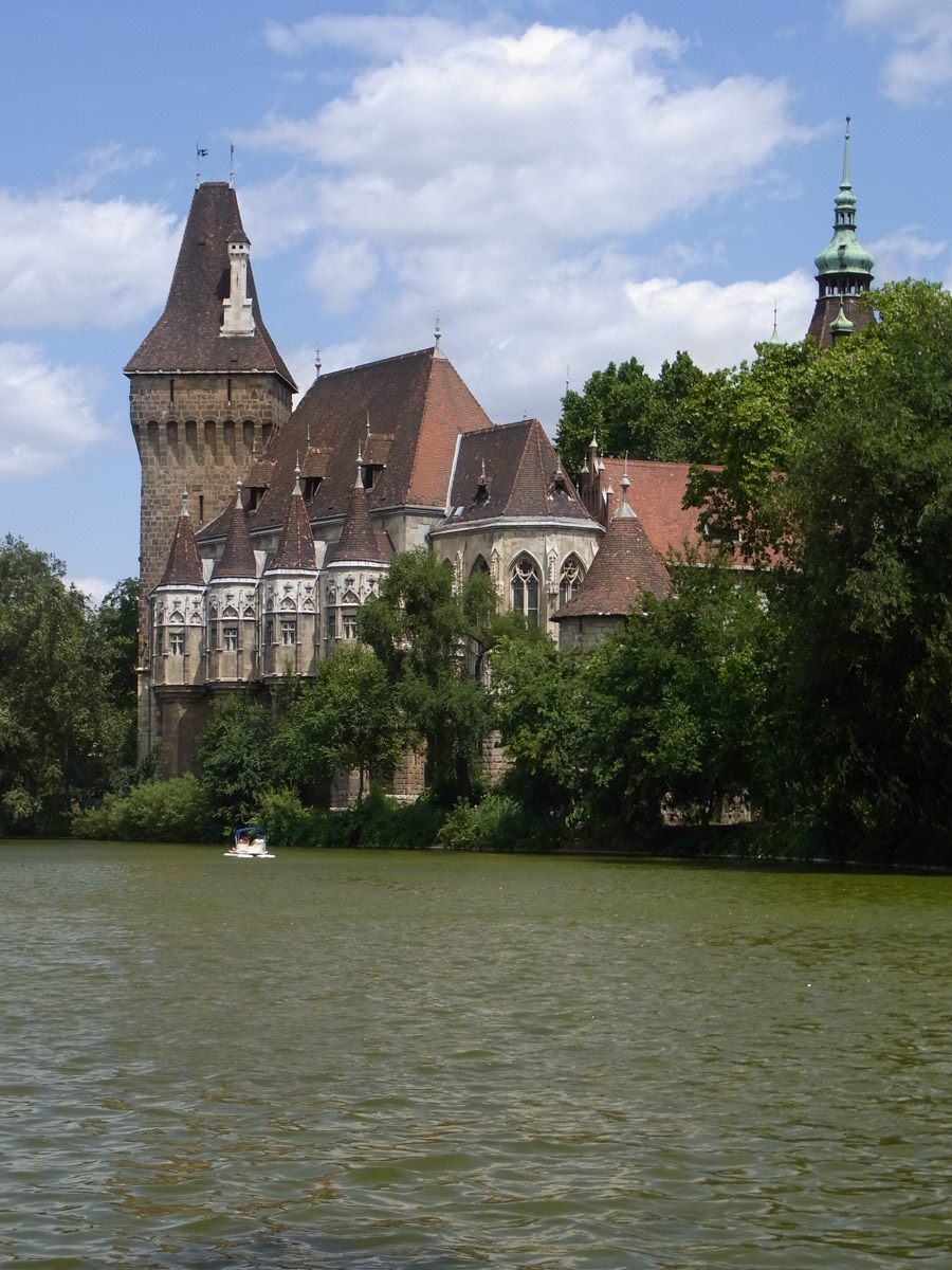Vajdahunyad Castle in City Park, Budapest from the rear