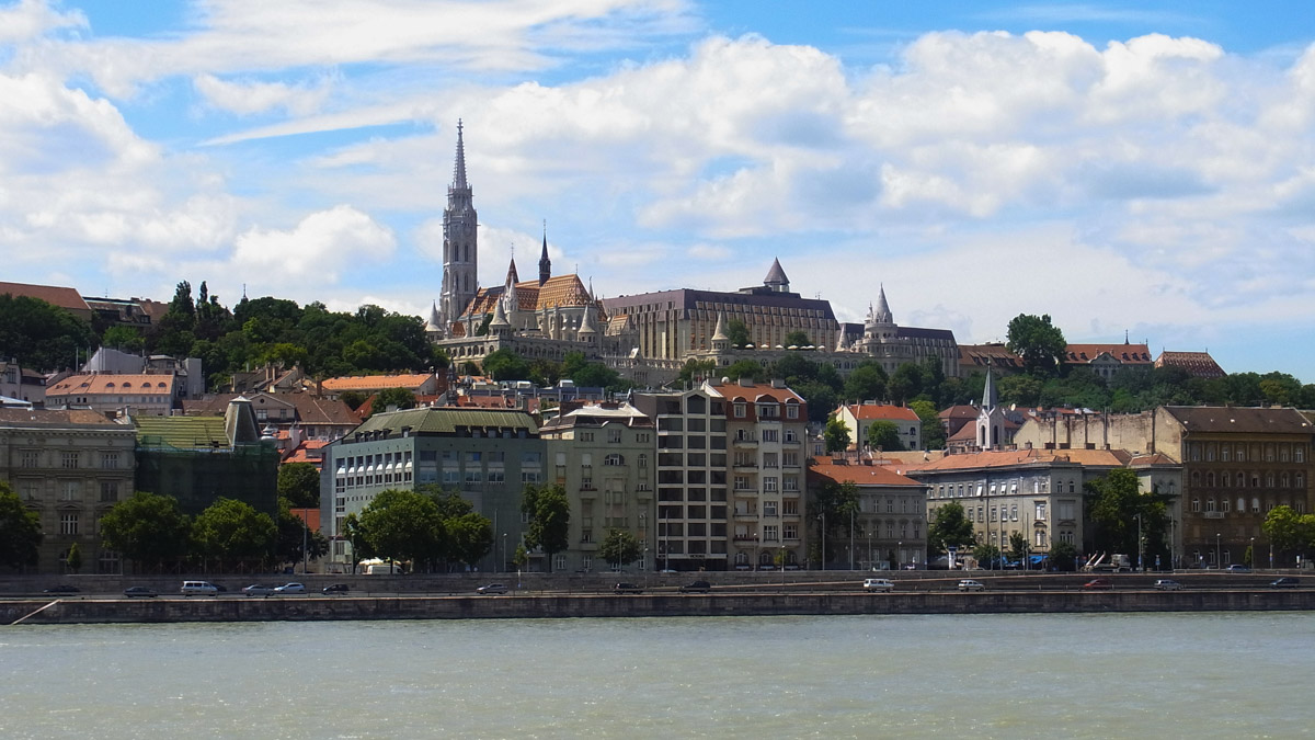 Looking across at Matthias Church