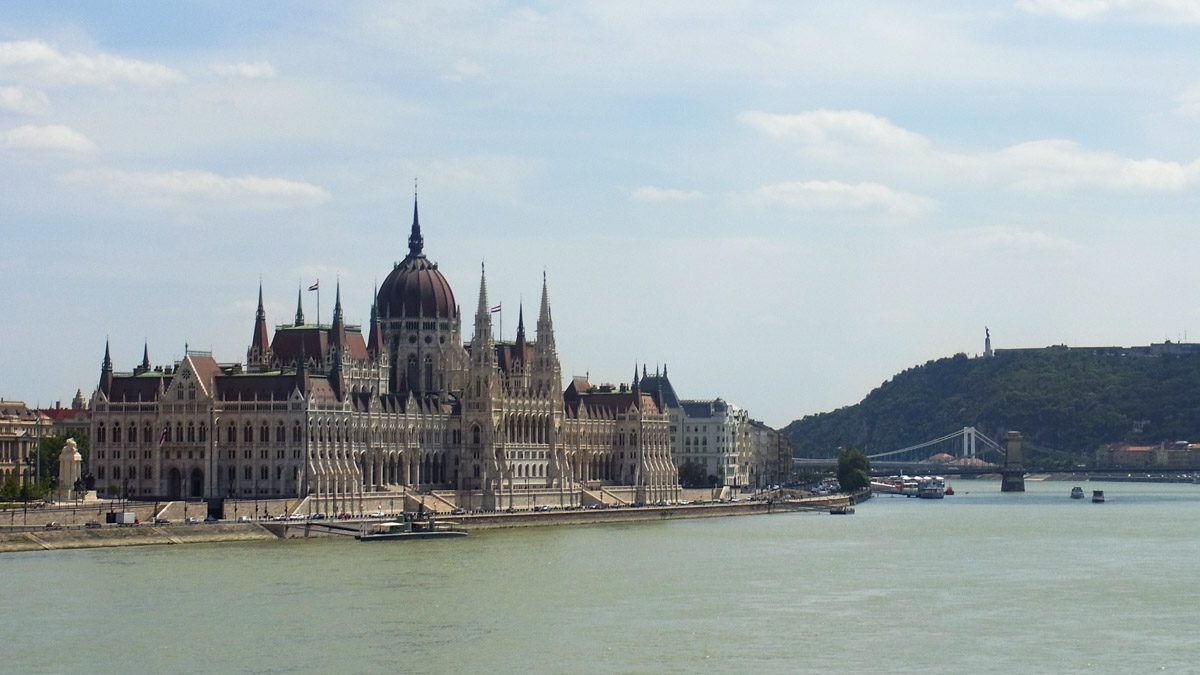 Hungarian Parliament Building on the shores of the Danube