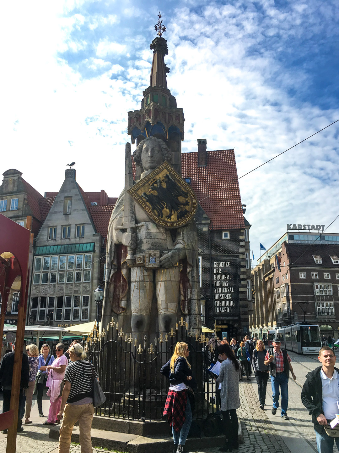 Statue of Roland dating back to 1404 making it the largest free-standing statue of the German Middle Ages.