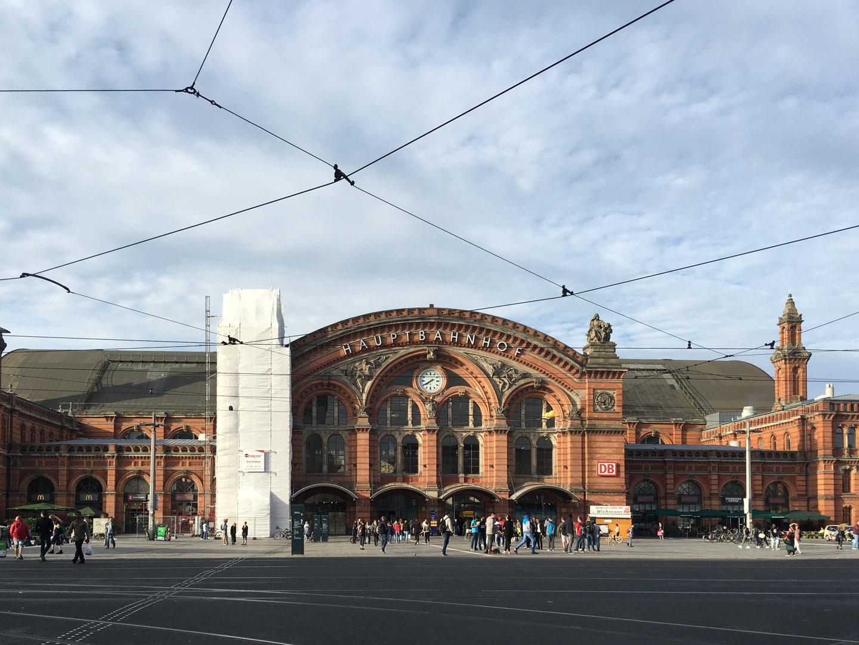 The Main train Station in Bremen