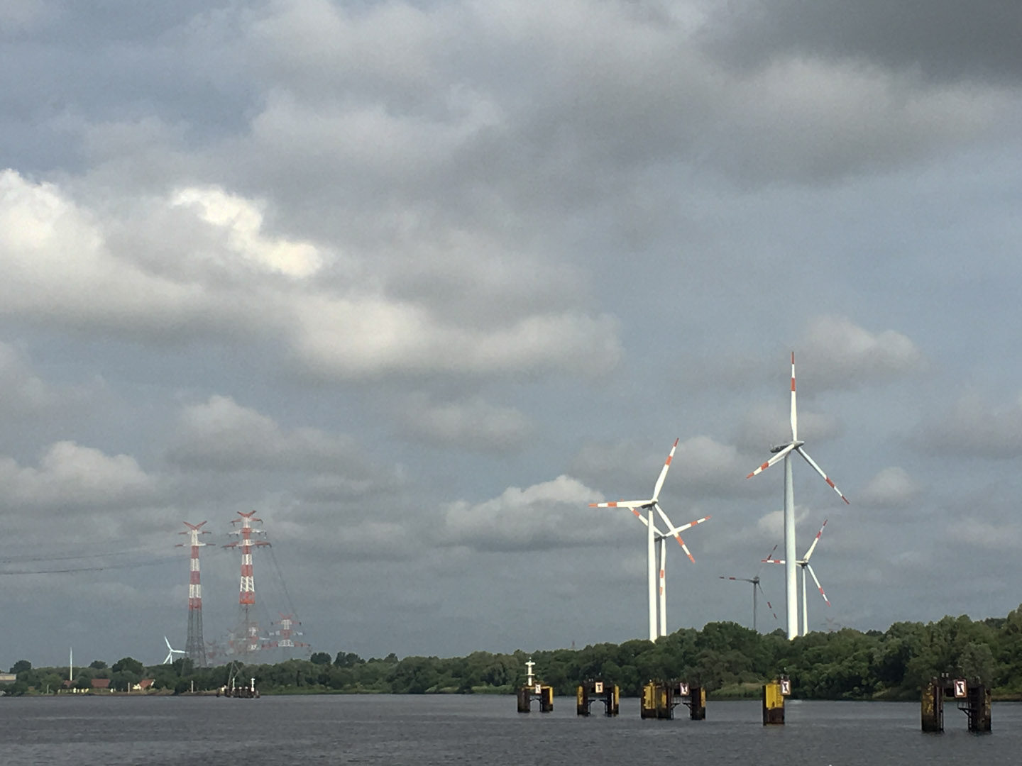 Scenes from the Weser River cruise from Bremen to Bremerhaven