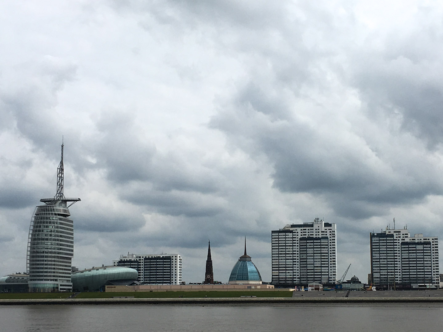 Bremerhaven from the Weser