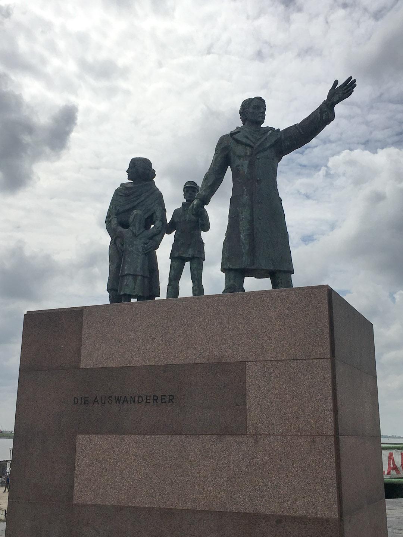 Auswandererdenkmal - the Migrants memorial at Bremerhaven