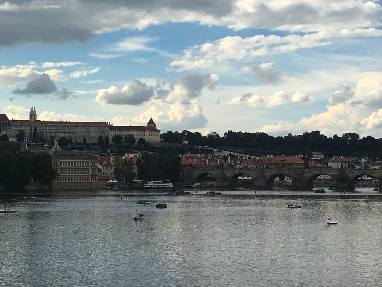 Vltava River with the Charles Bridge